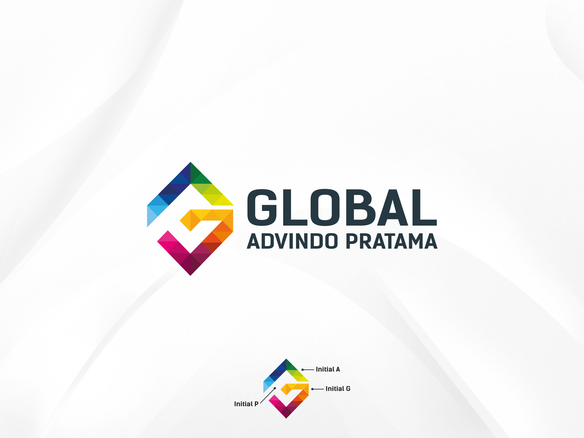 Sribu Logo Design Logo Perusahaan Advertising Quot Pt Global