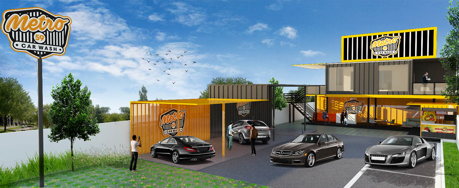 Galeri design exterior untuk metro59 car wash for Exterior car design