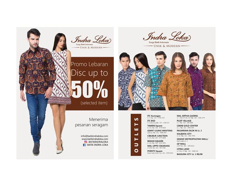 Sribu Desain Flyer Brosur Design Flyer Untuk Batik Indral