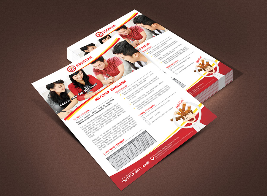 Sribu Flyer Brochure Design Flyer Kursus Bahasa Inggris U