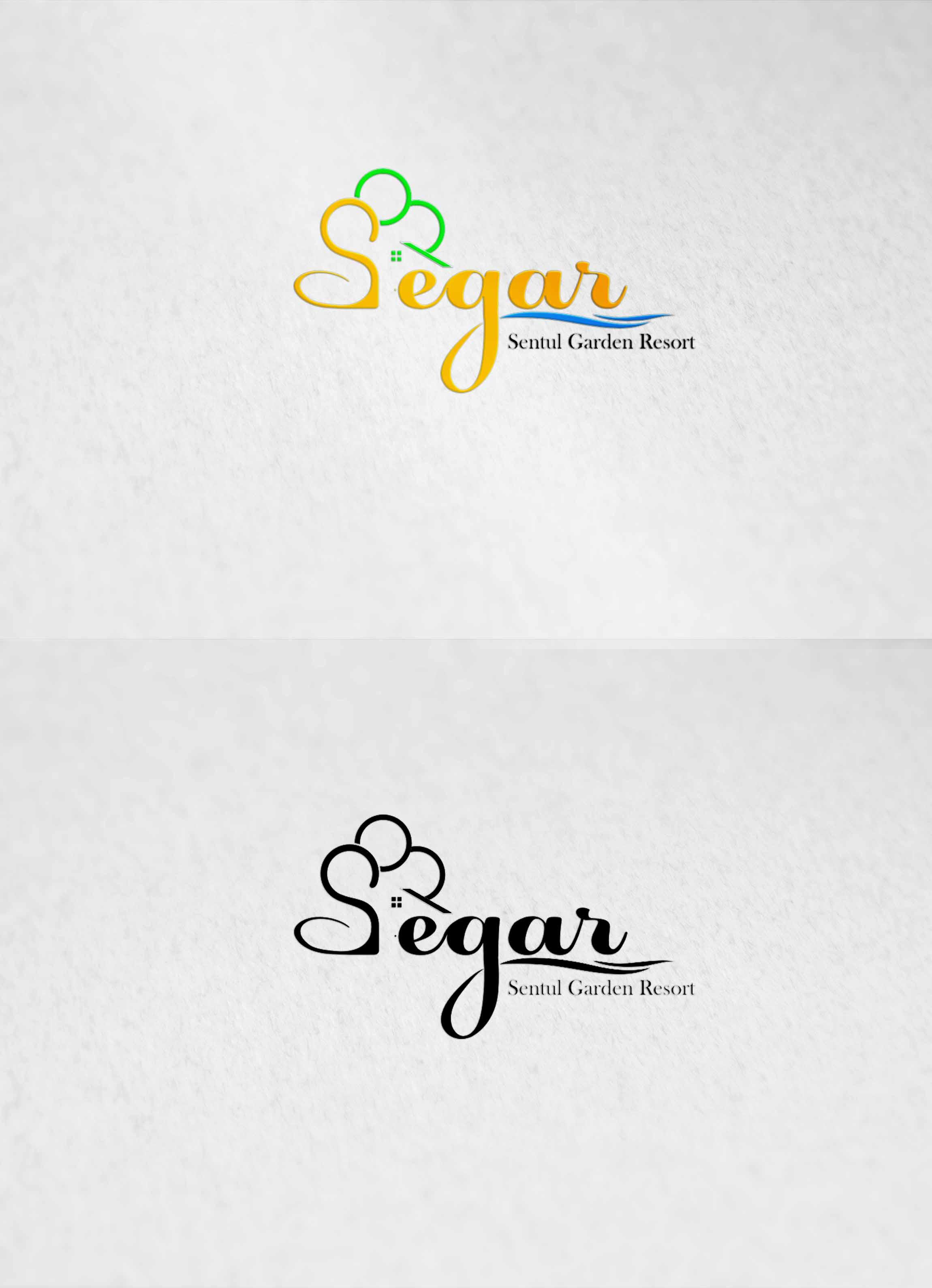 """sribu logo design logo design untuk resort """"segar"""""""