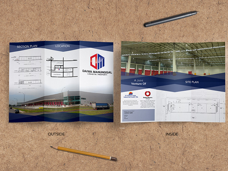 Flyer / Brochure Desain Daiwa Manunggal Logistik Properti