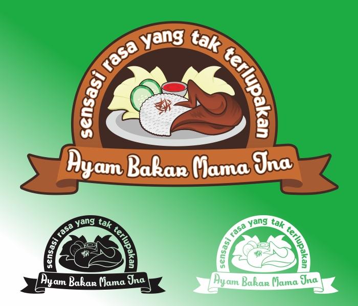 """Desain Logo Untuk Makanan """" Ayam Bakar"""