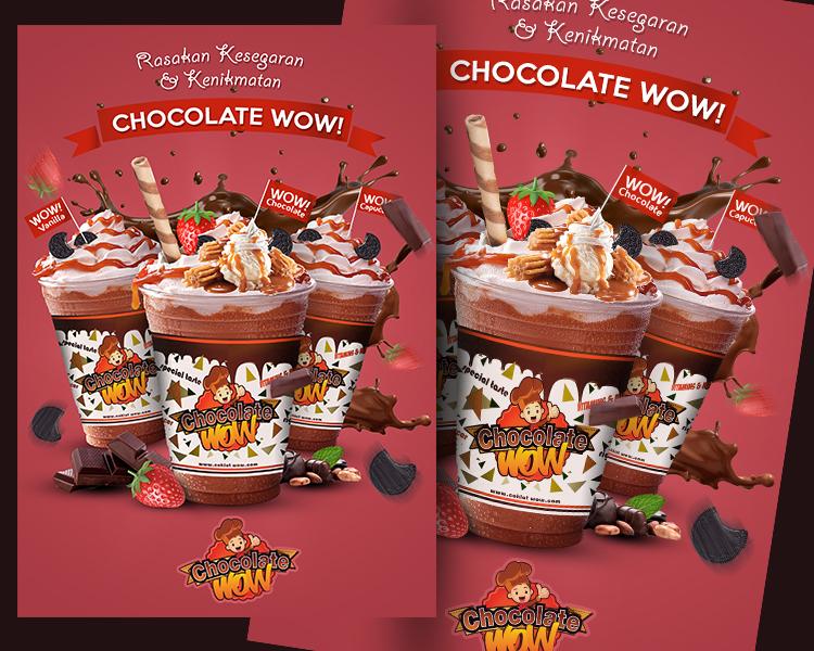 Galeri Design Poster Banner Minuman Chocolate Wow
