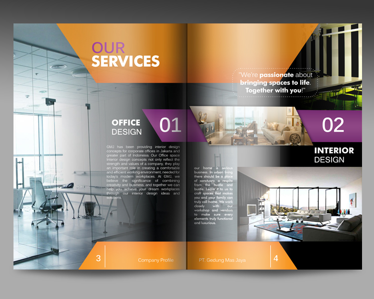 Company profile interior design for About us content for interior design company