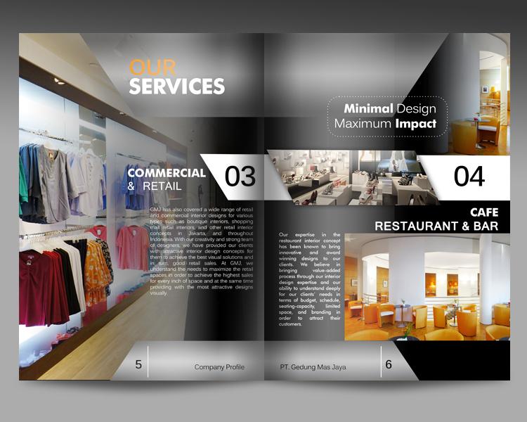 """Design Company Profile Untuk """"GMJ Interior"""""""