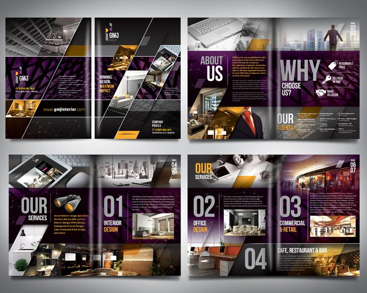 Gallery Design Company Profile untuk GMJ Interior