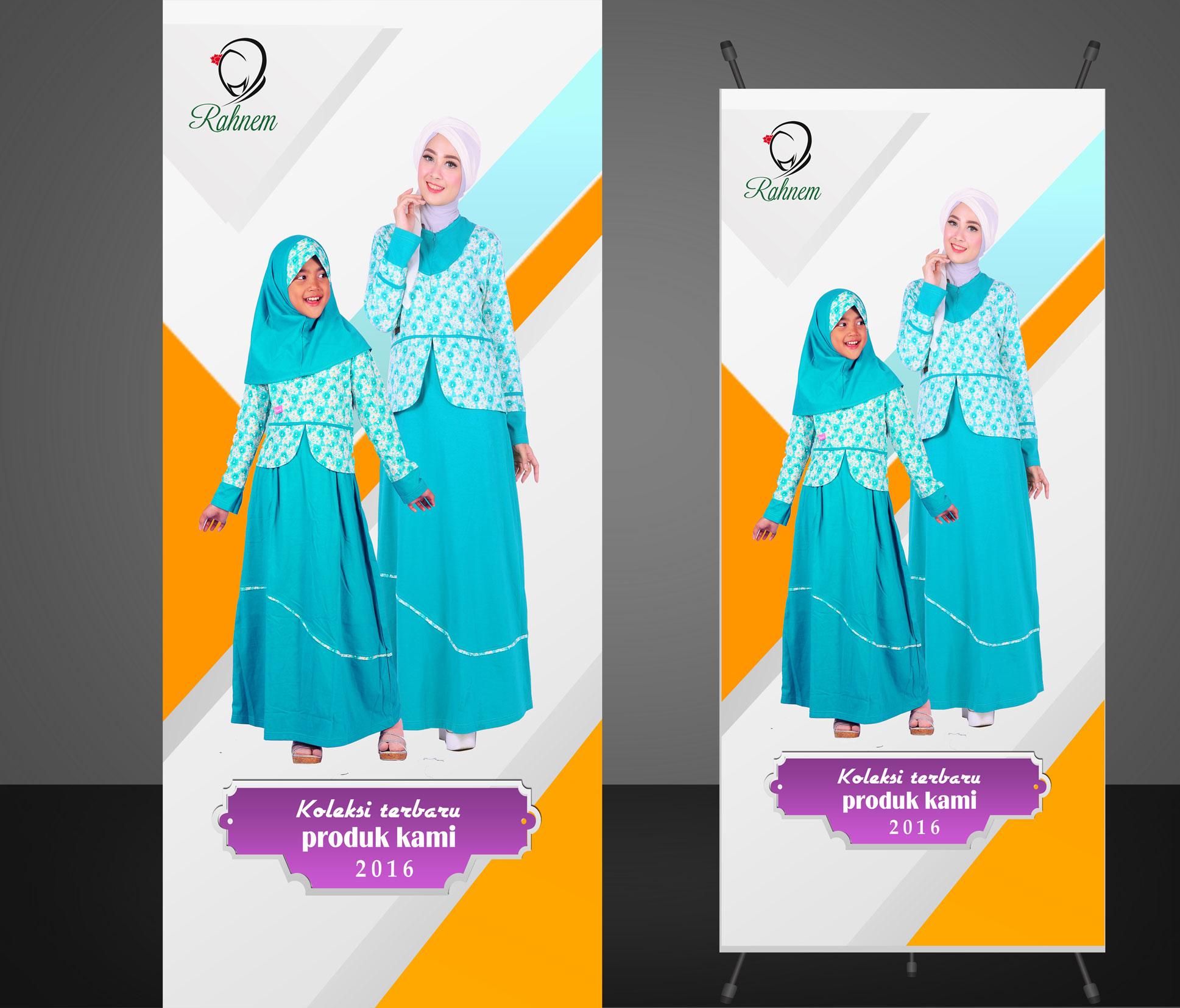 sribu banner design desain x banner untuk produk fashion