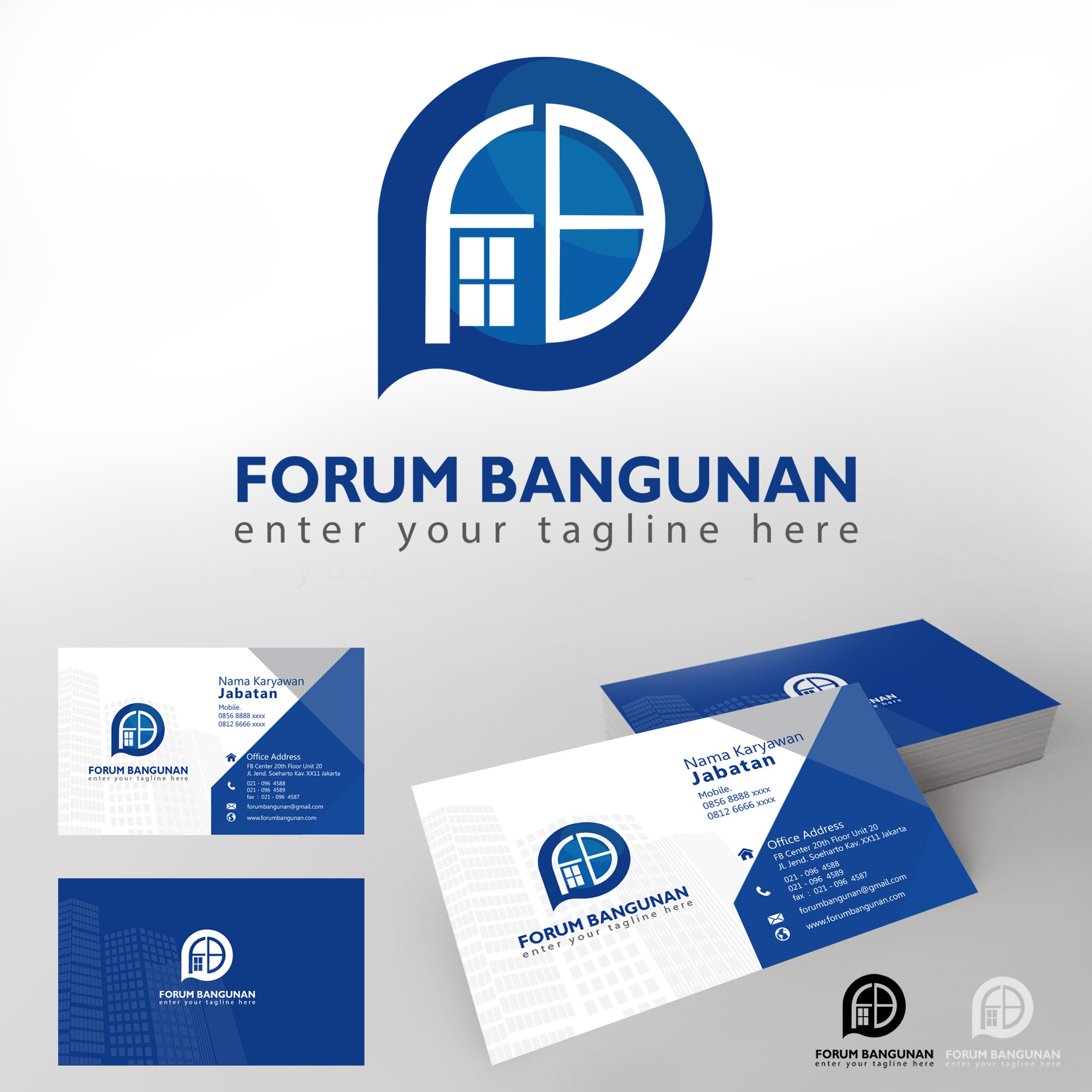 Kontruksi: Desain Logo Dan Stationery Untuk Perusahaan Jasa K