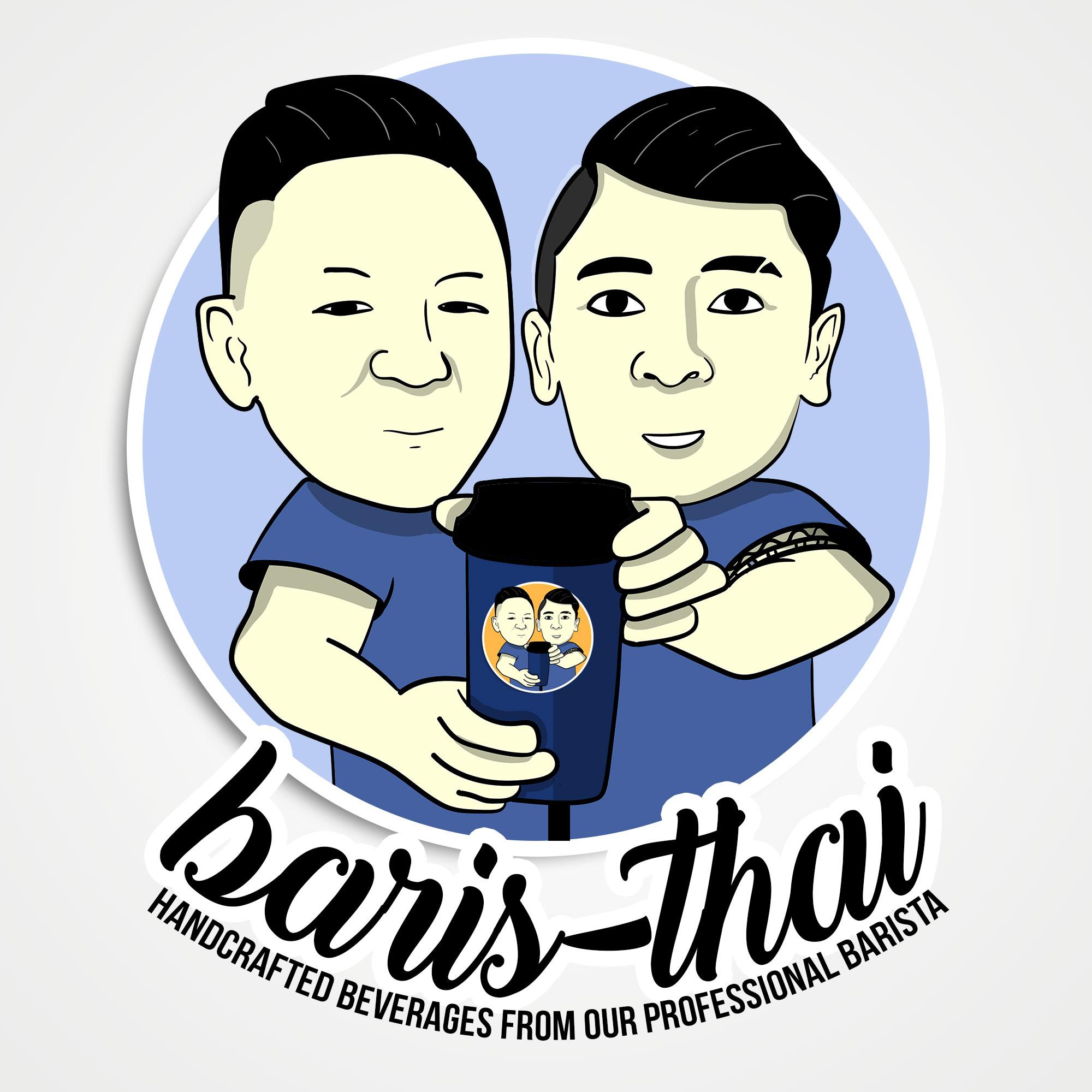 Galeri Desain Maskot Karikatur Untuk Minuman Thai Tea