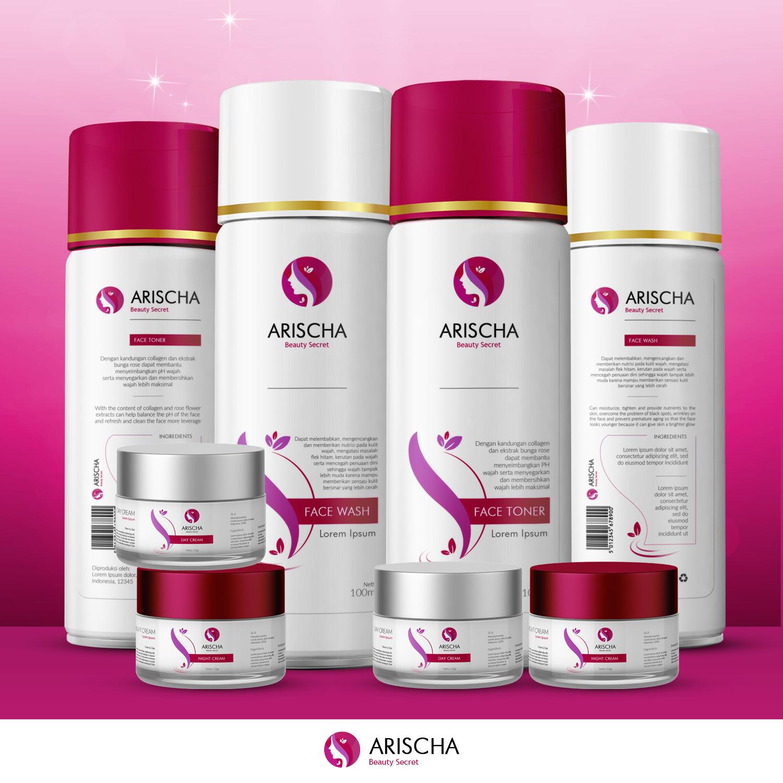 desain label kemasan arischa