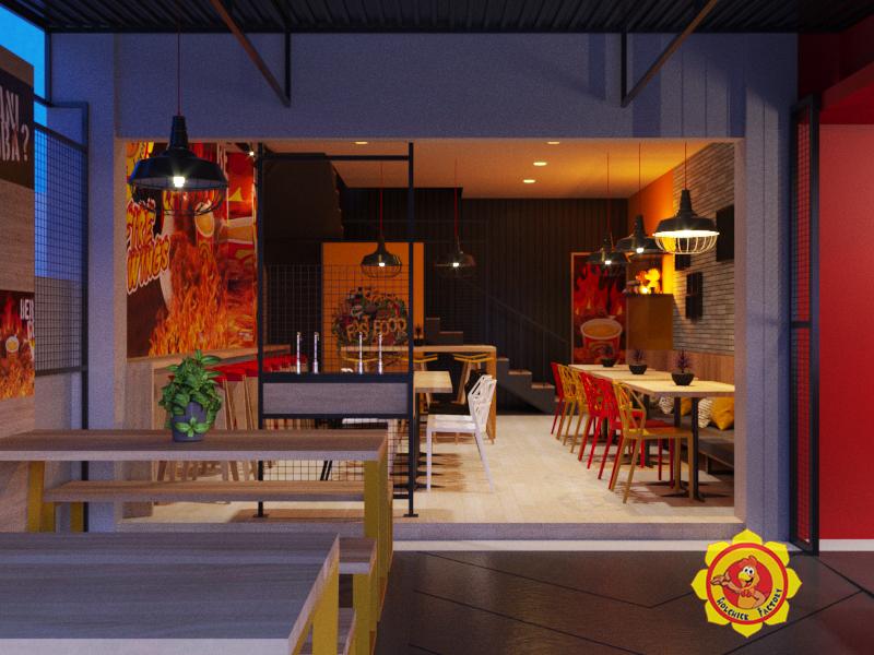 Jasa Desain Interior Untuk Restaurant Fried Chicken