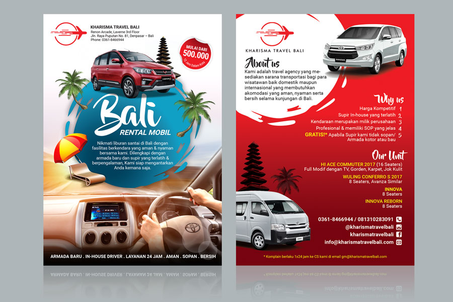 Flyer Design Services for Travel and Transportation Company