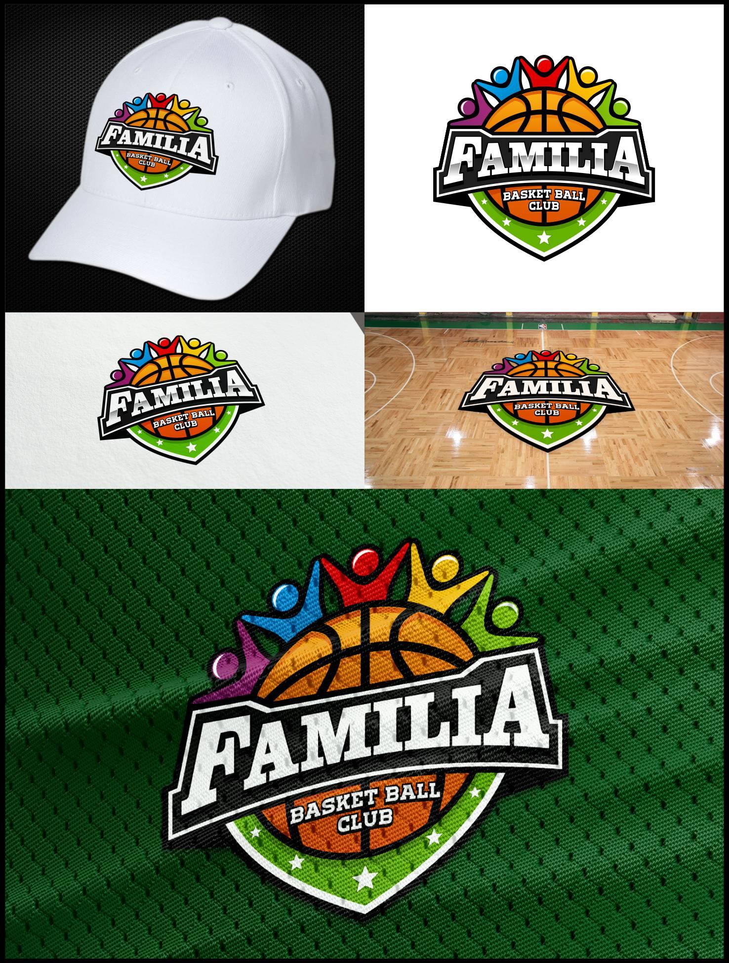 Desain Logo Team Bola Basket