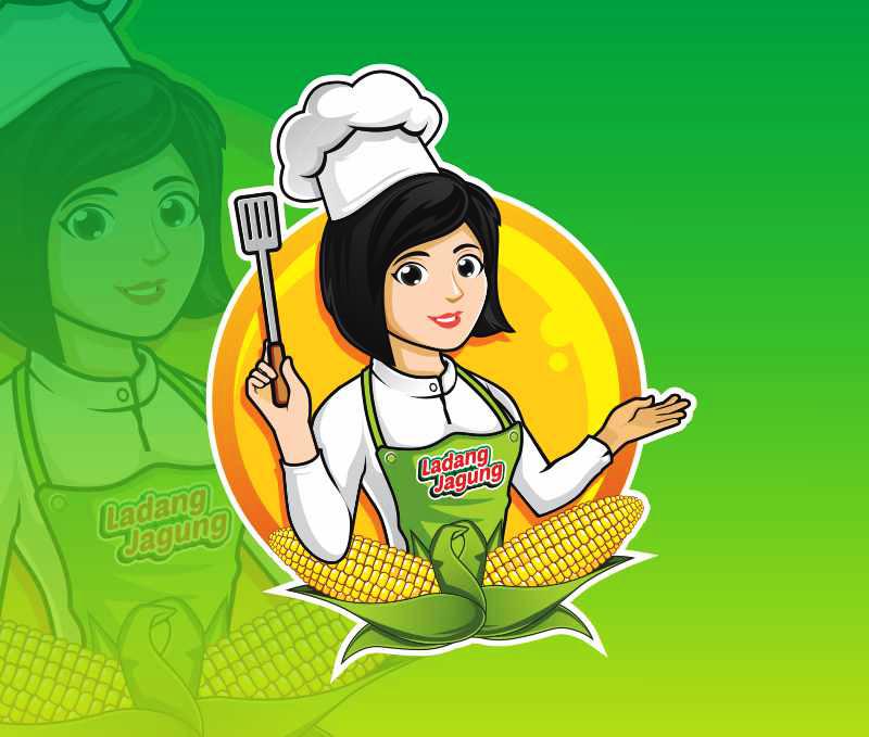 mascot character design fo chef