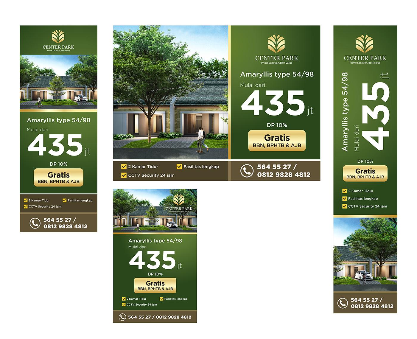 """Sribu: Banner Design - Desain Billboard untuk Perumahan """"Cen"""
