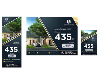 contoh desain banner untuk perumahan
