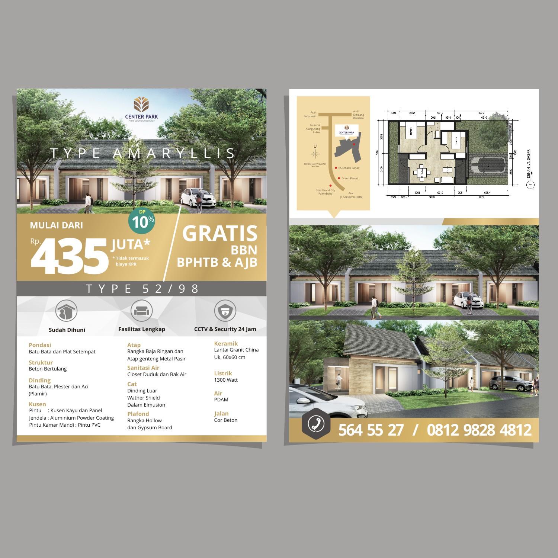 Jasa Desain Flyer Untuk Perumahan Center Park