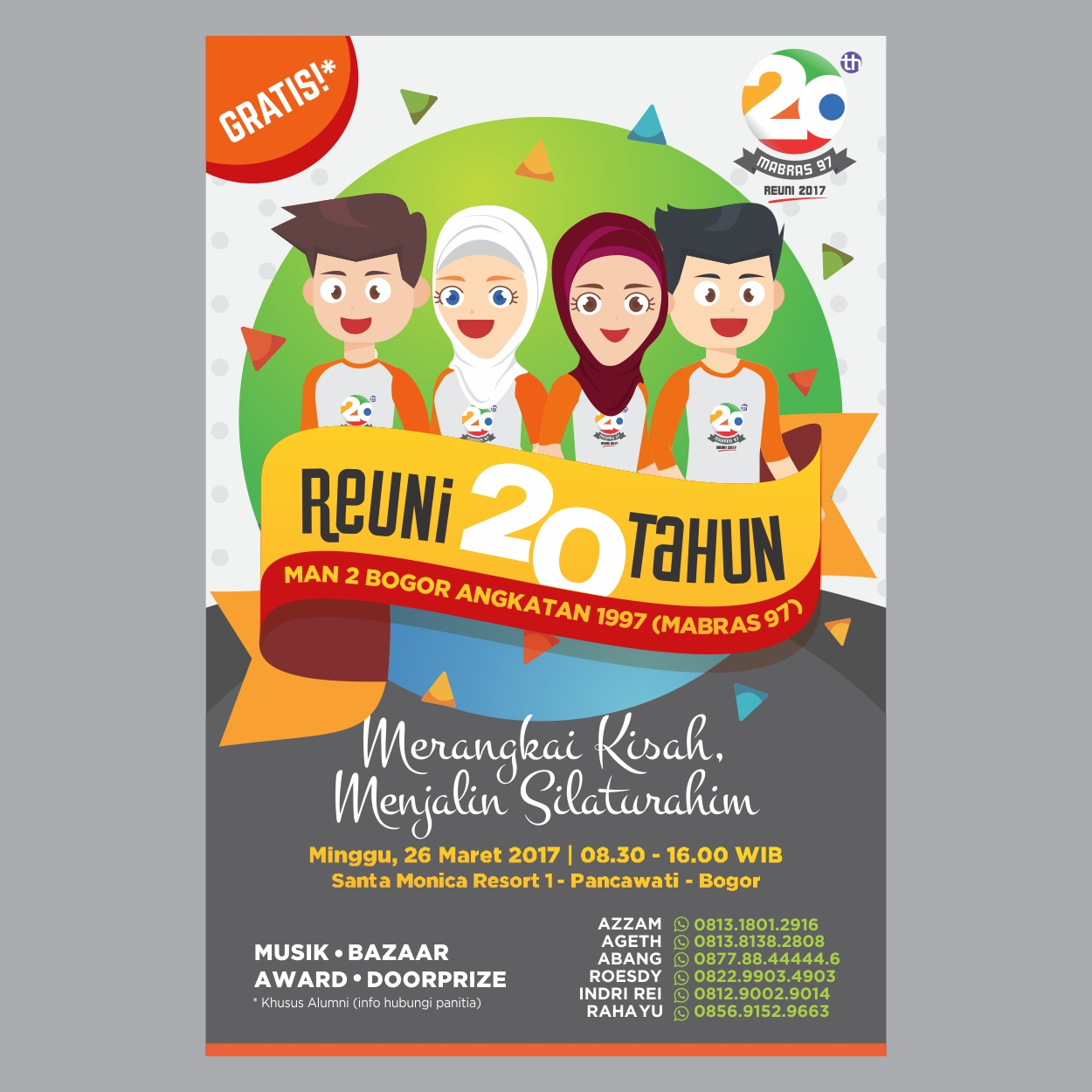 Desain Poster Reuni MABRAS 97