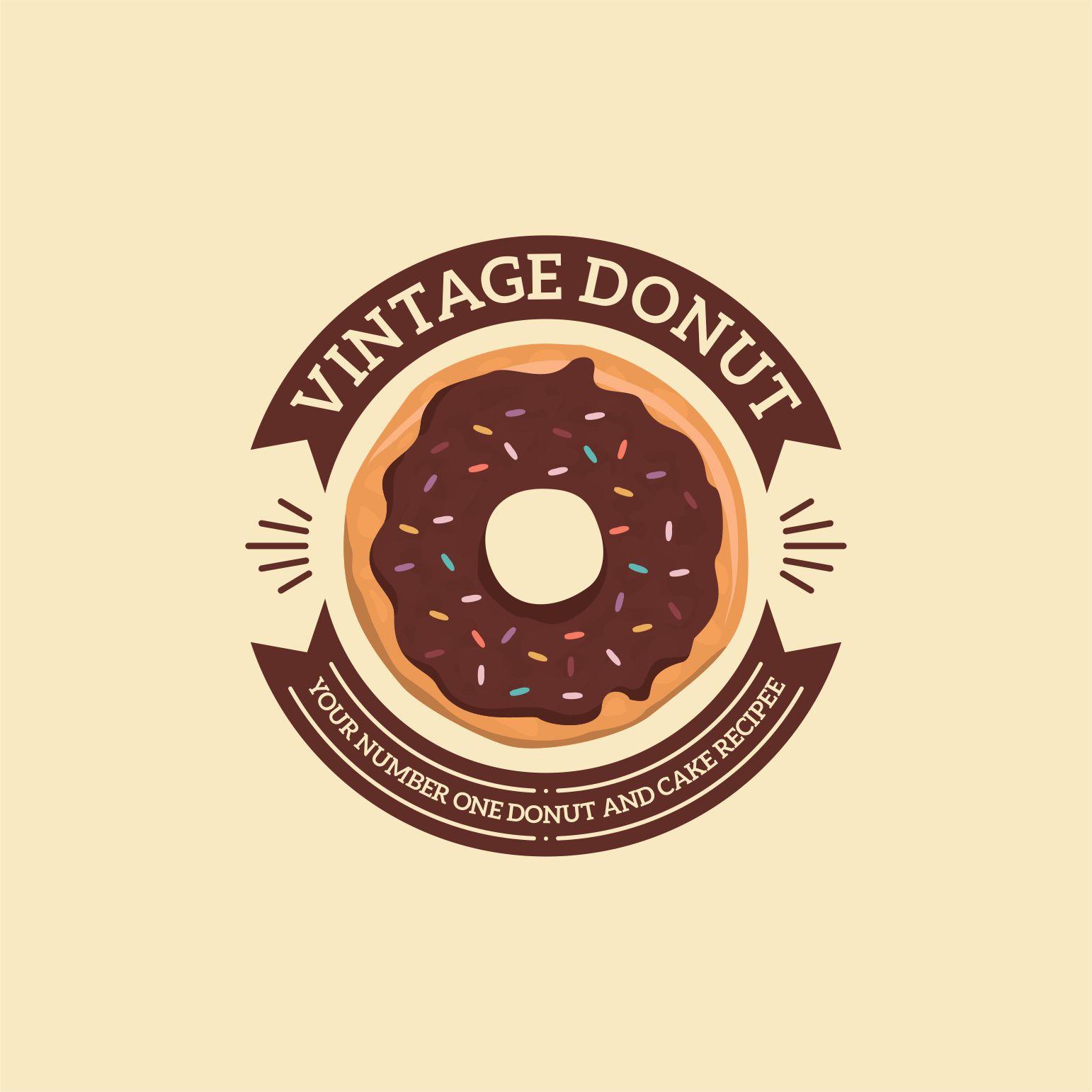 Tugas Desain Produk Dan Jasa: Sribu Desain Logo Desain Logo Untuk Vintage Donut