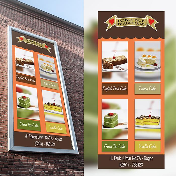 Galeri Kontes Desain Banner Billboard Toko Kue Tradisional