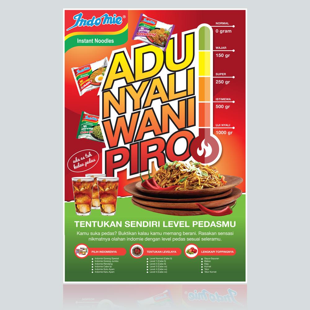 Gallery Desain Poster Untuk Indomie Super Pedasssss