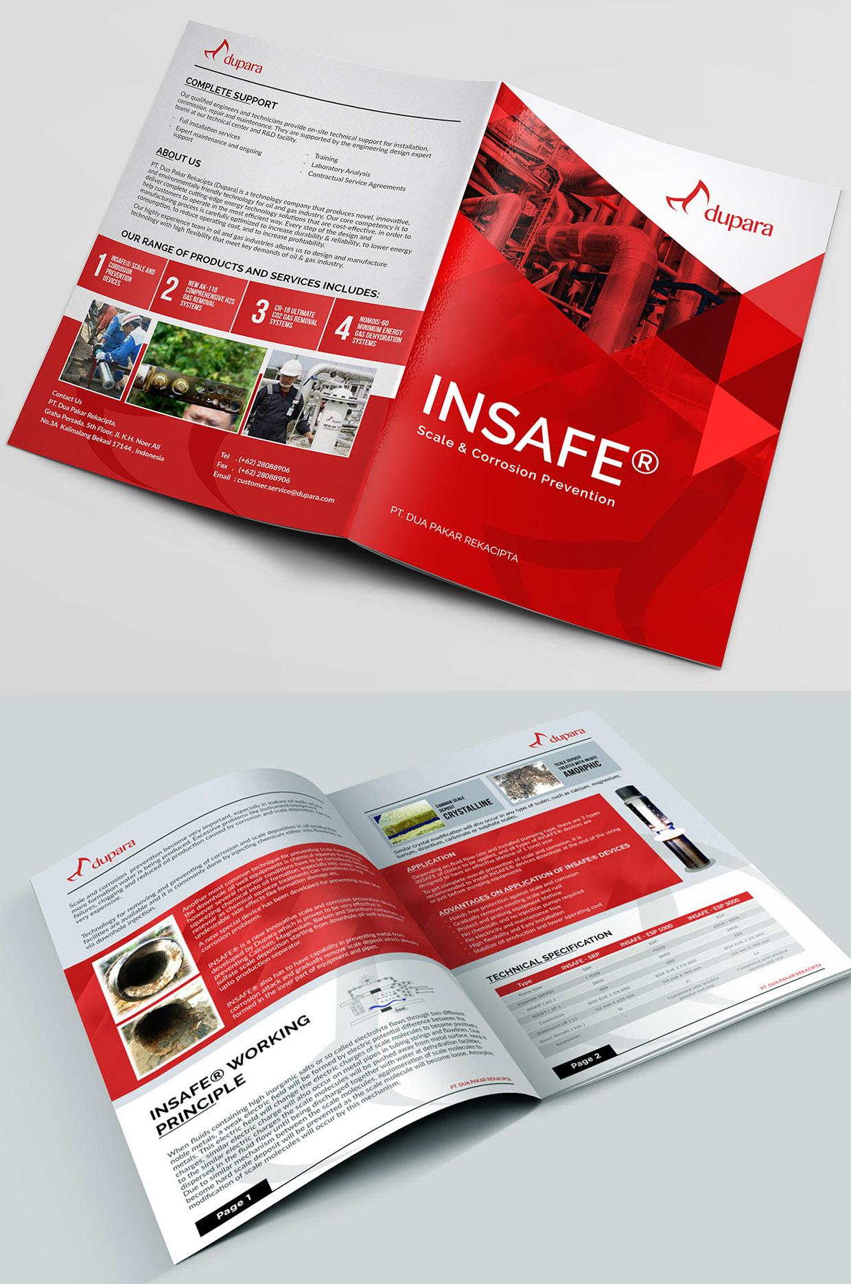 Desain Brosur Untuk Perusahaan Peralatan Teknologi
