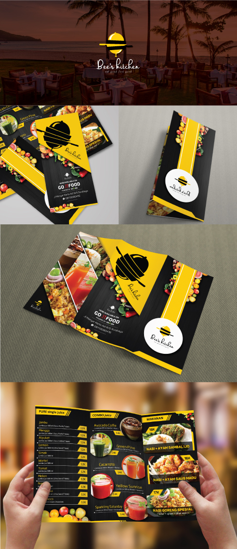 Desain Brochure untuk Bee's Kitchen
