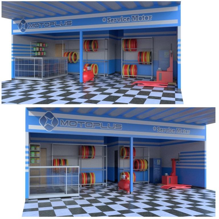 Sribu: Desain Booth - Desain Interior Untuk Bengkel Motor