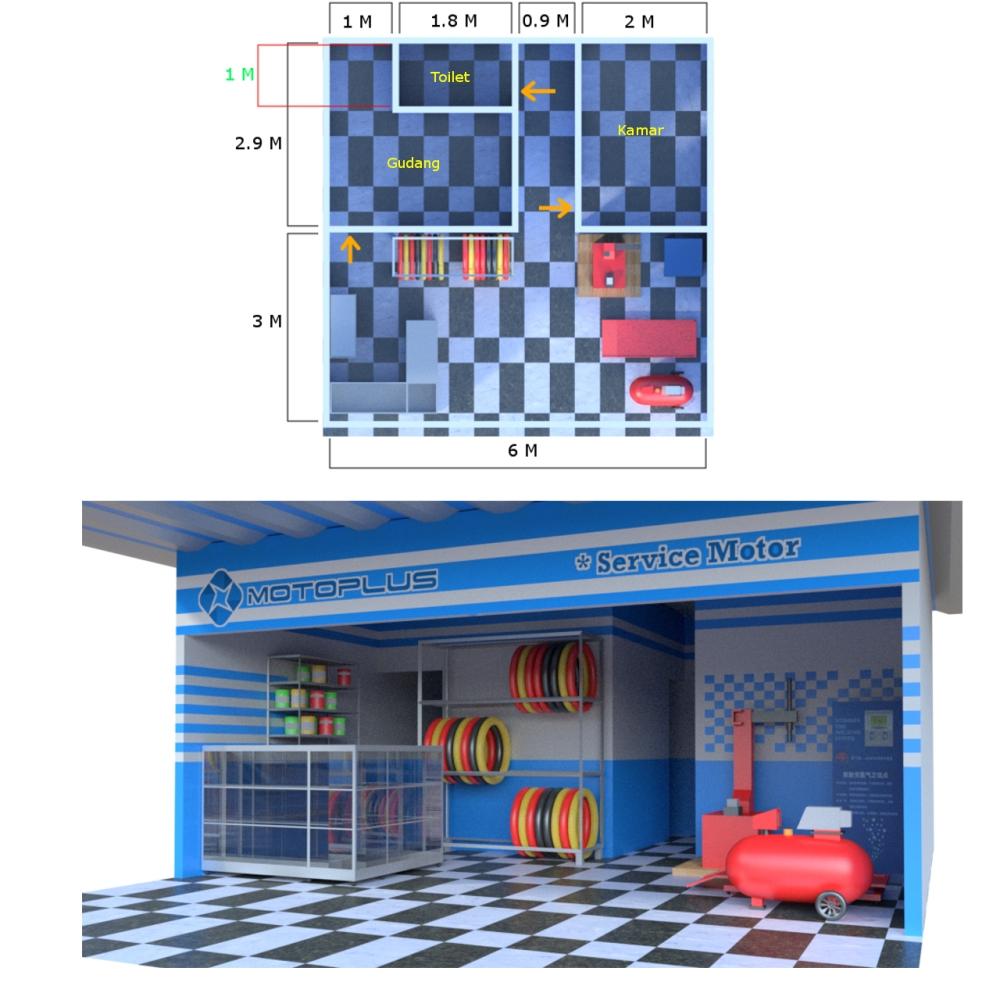 Galeri Desain Interior Untuk Bengkel Motor