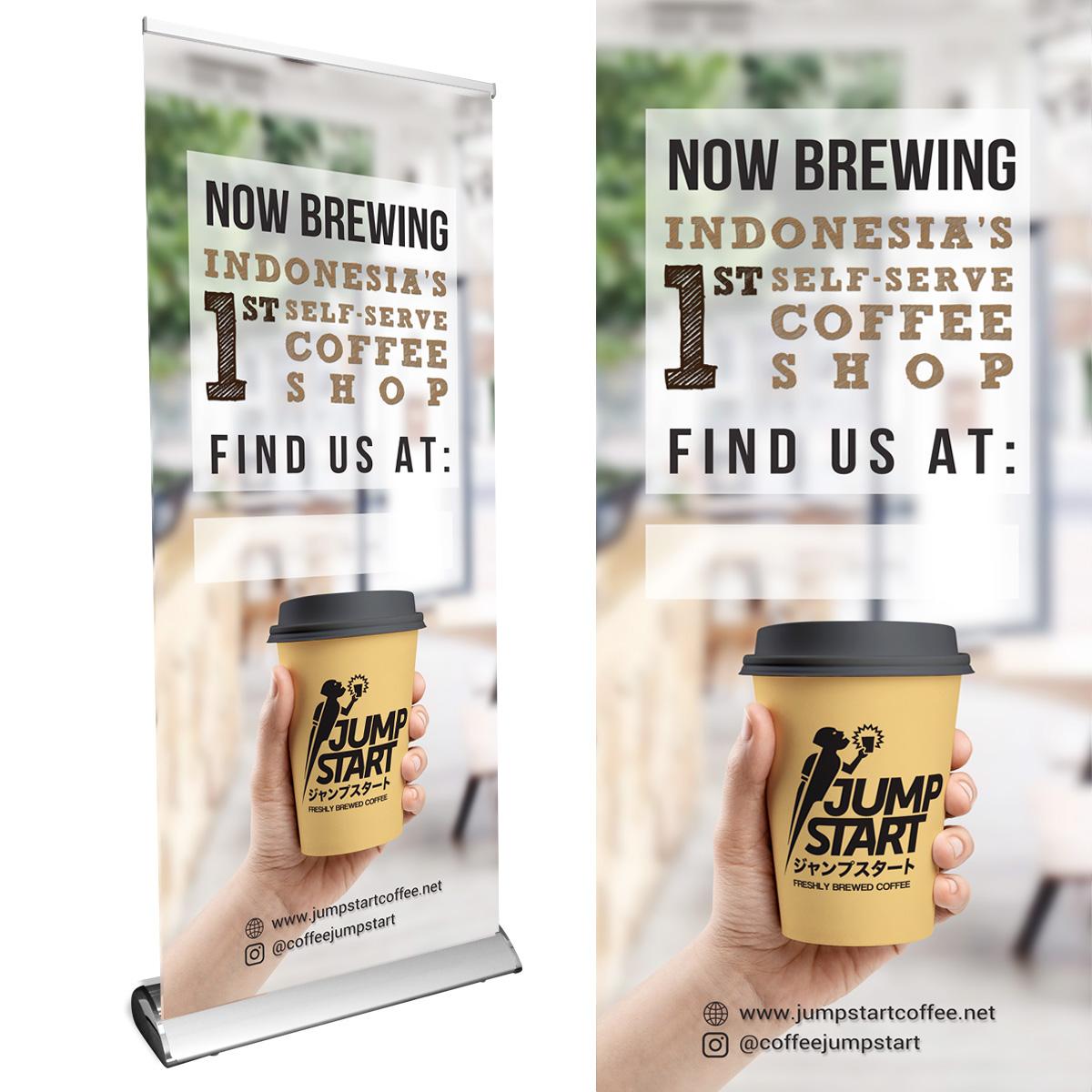 Desain Banner Untuk Coffee Shop