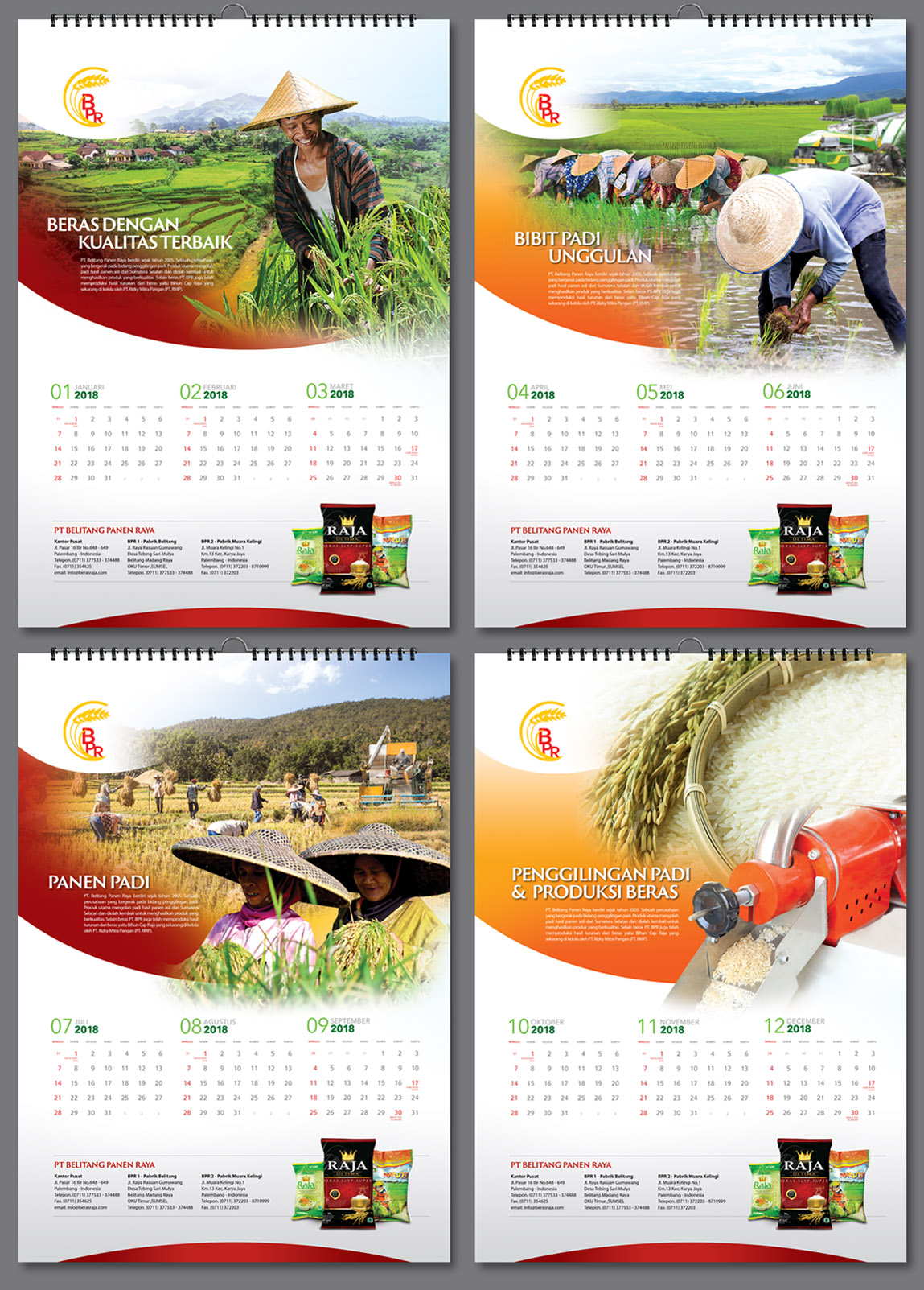 calendar designs services for rice