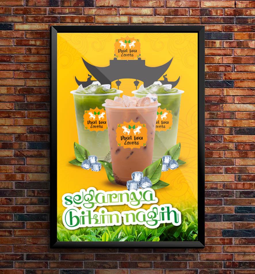 Contohdesain Sablon Gelas Minuman Thai Tea Kekinian