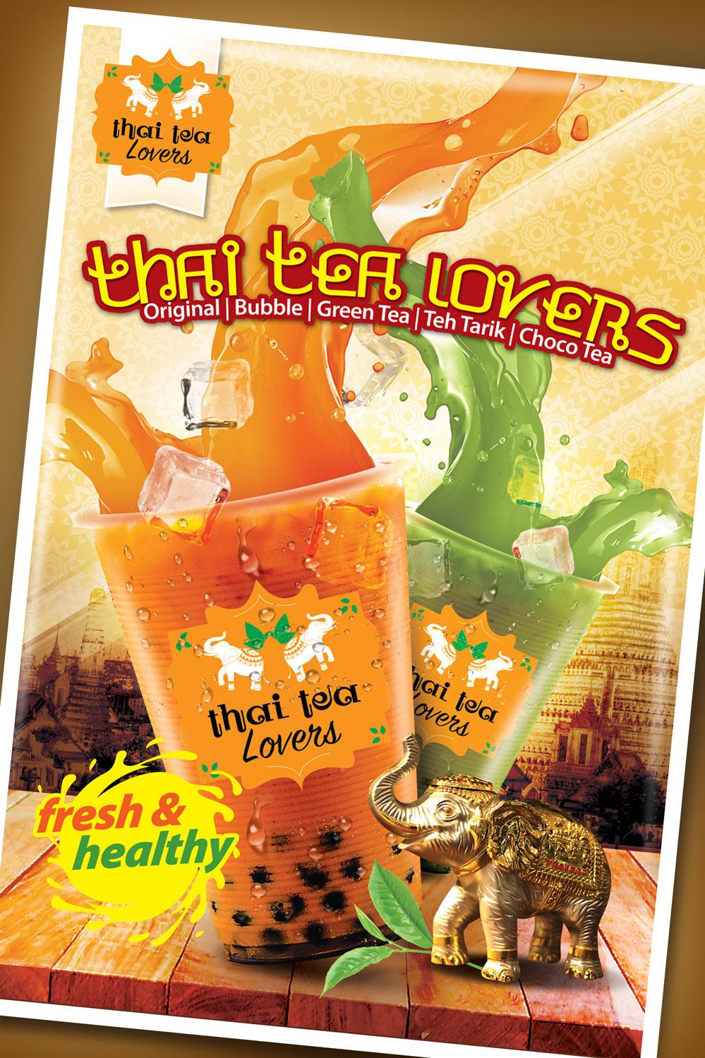 jasa desain poster thai tea lovers