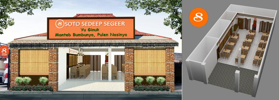 Gallery Desain Interior Untuk Warung Soto Sedeep Segeer