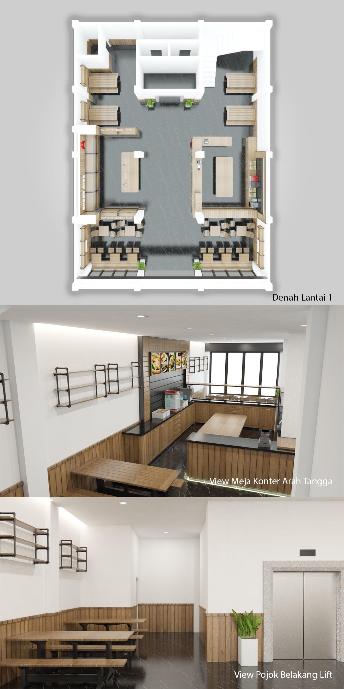 Desain Interior Restoran Otak-Otak Ase