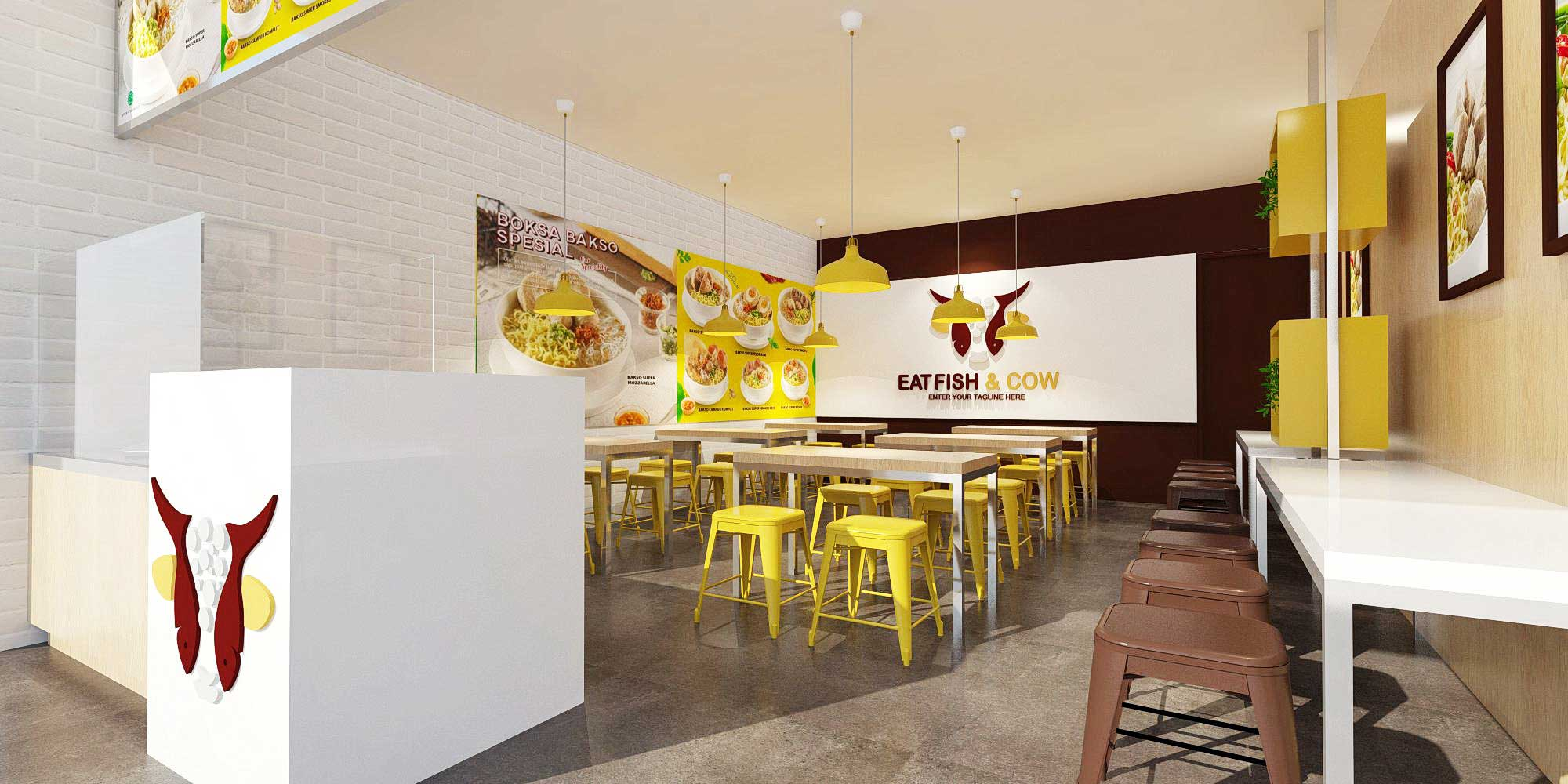 Jasa Desain Interior Untuk Bakso Eat Fish n Cow