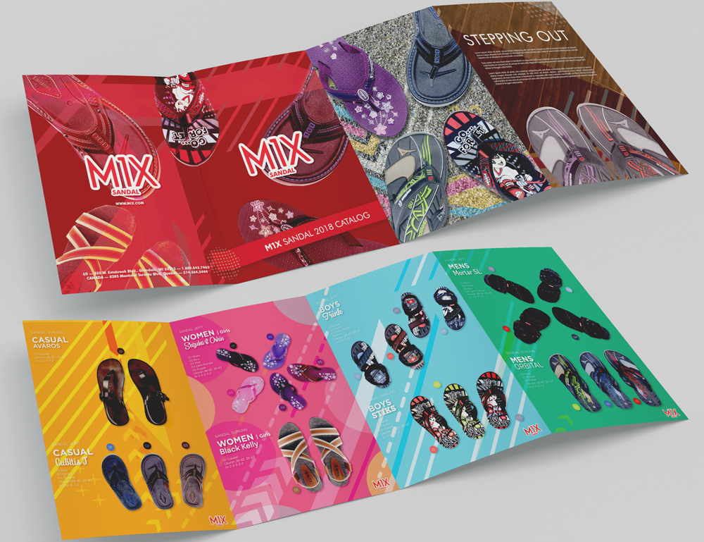Brochure Design Services for the Sandal Products