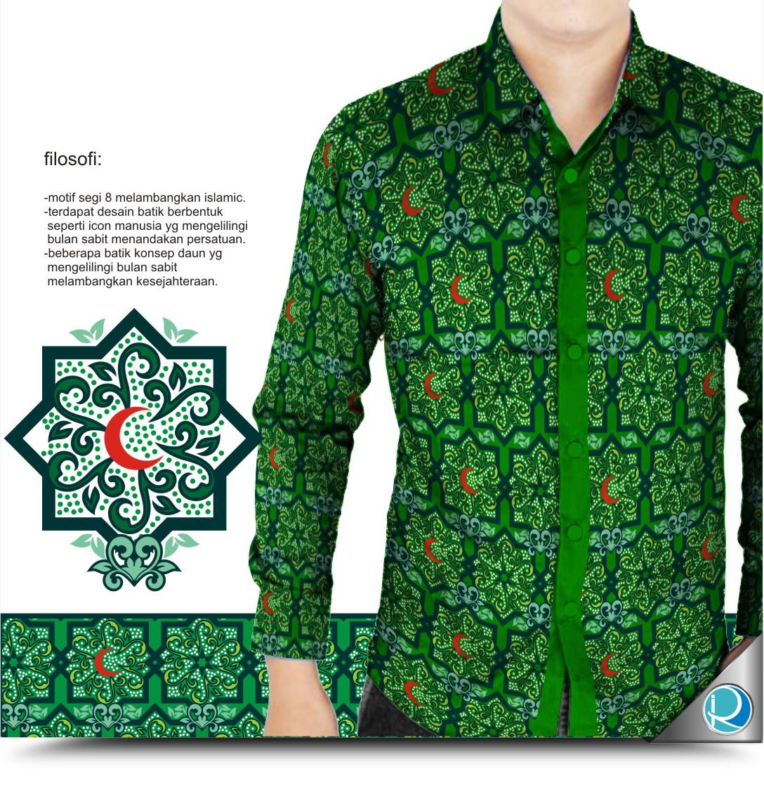 Desain baju kemeja batik