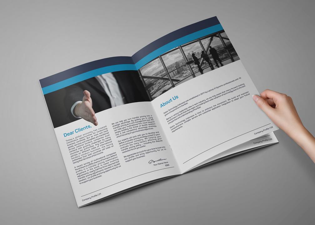 Desain Company Profile untuk Perusahaan Teknologi
