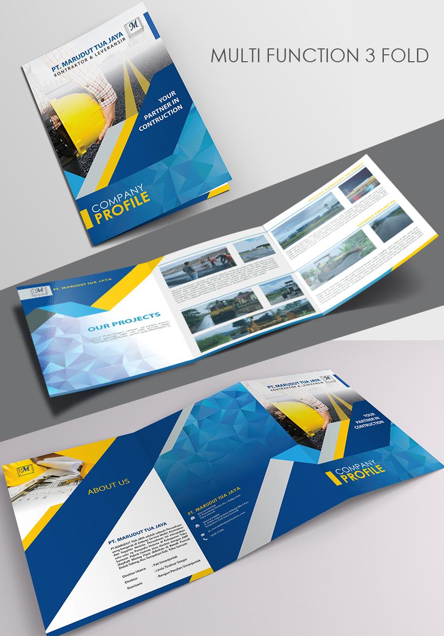 Desain Company Profile untuk Perusahaan Dibidang Pekerjaan AMP (asphalt mixing plant)
