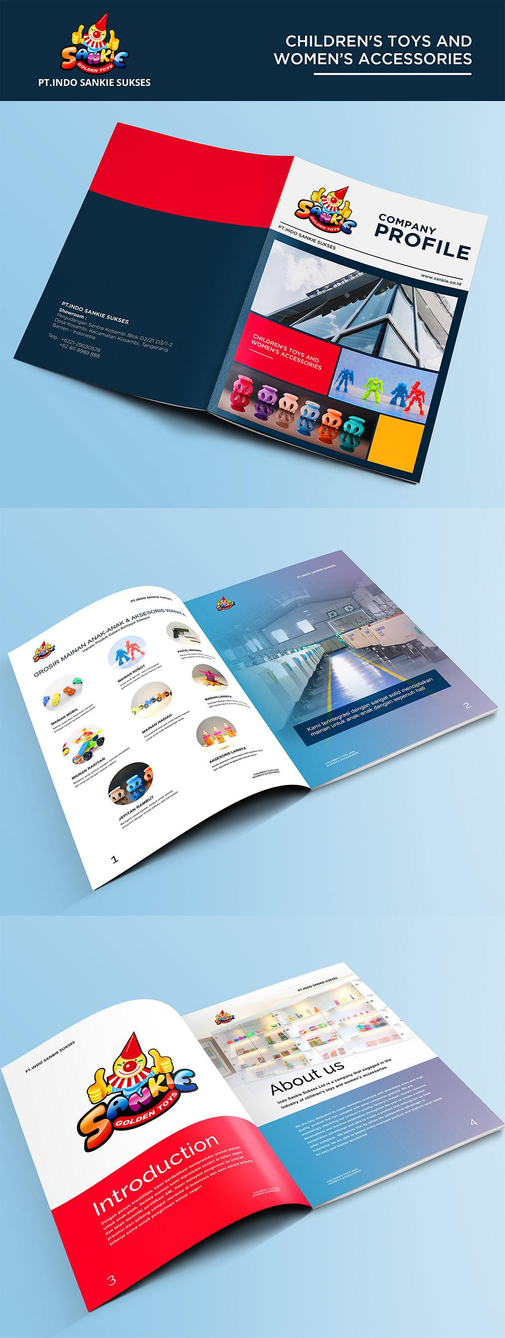 Desain Company Profile Untuk Pabrik Mainan