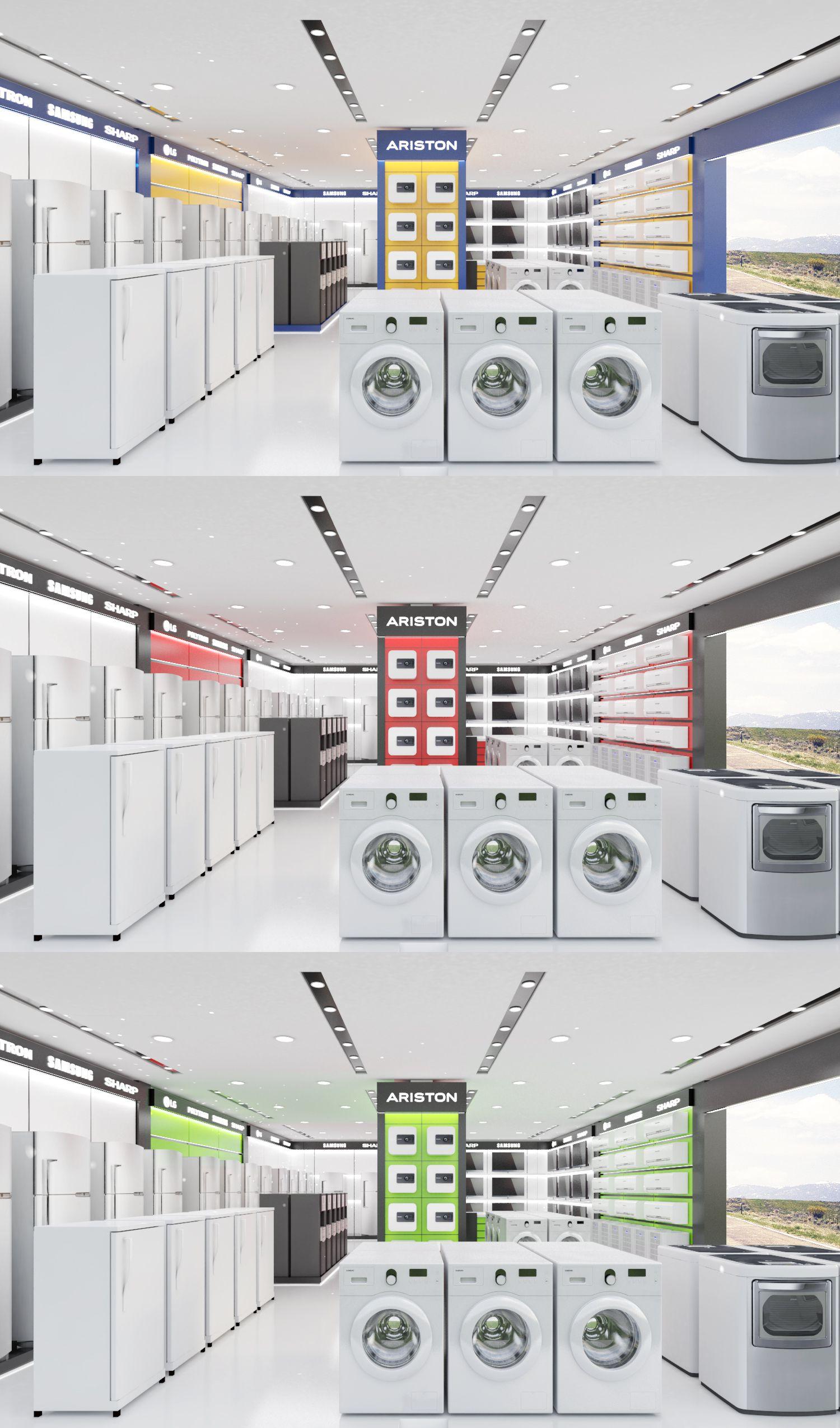 Desain Ruangan Untuk Toko Retail Elektronik