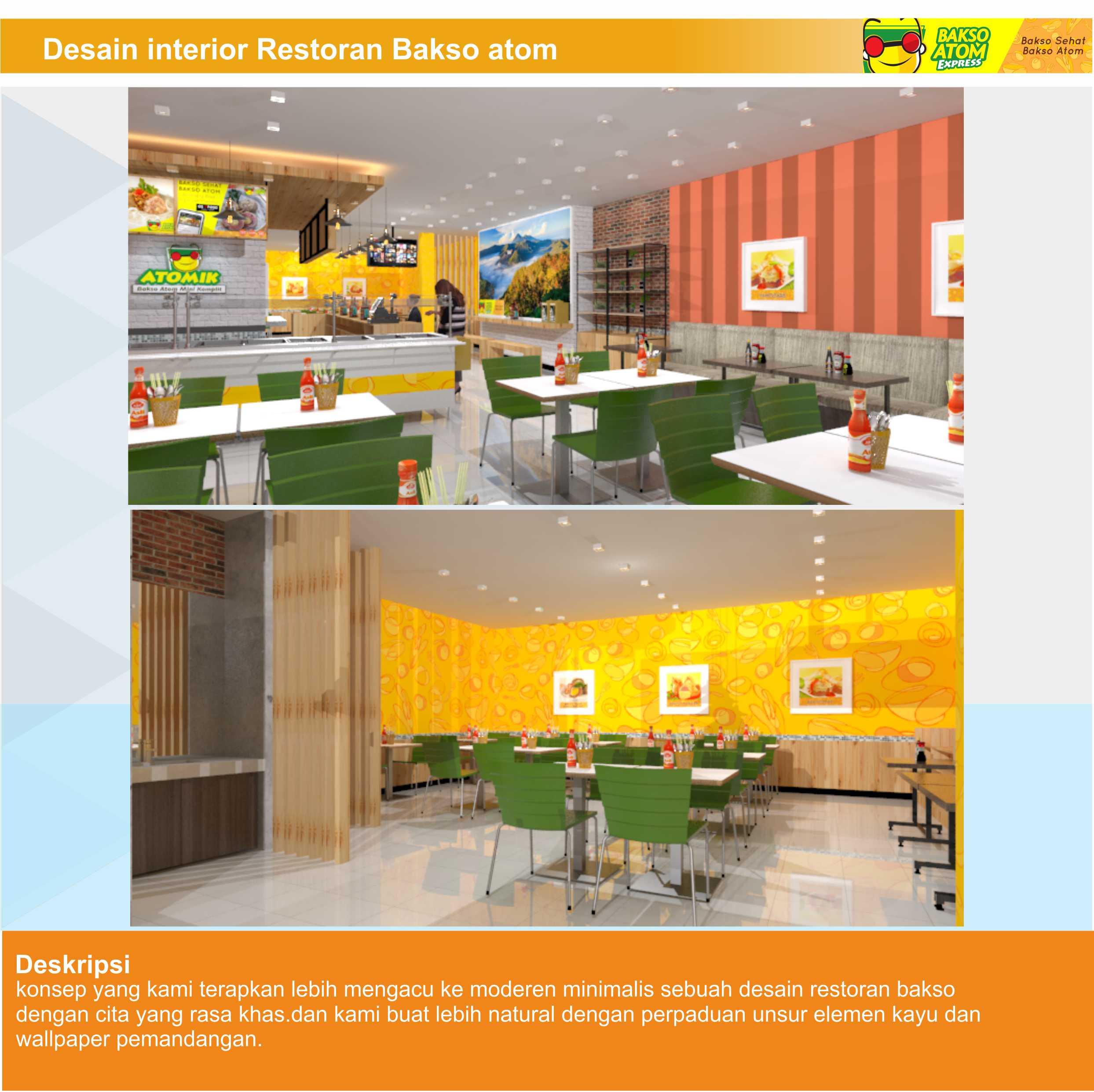 Desain Ruangan untuk Restoran Bakso Atomik Ambon