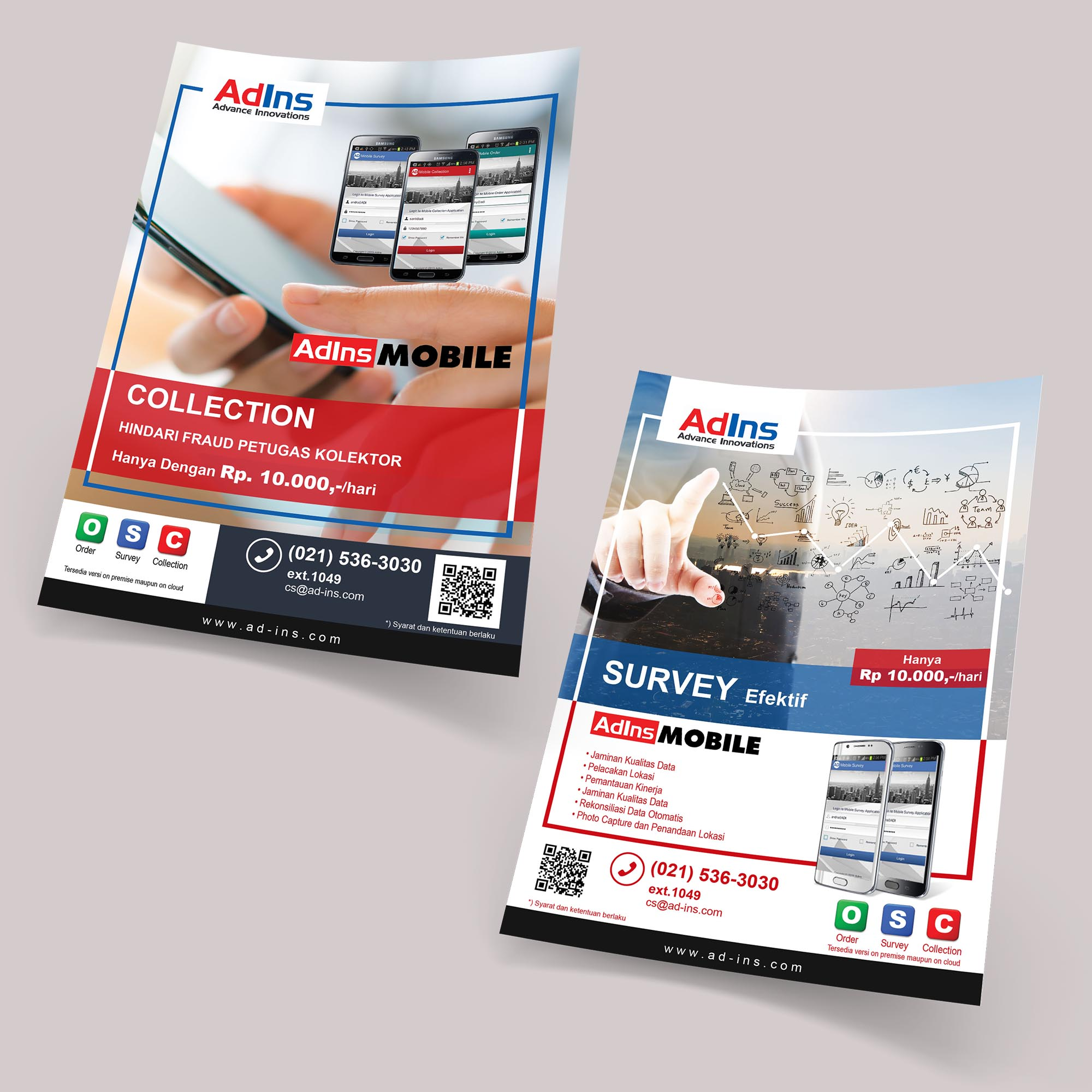 Advertising Flyer Design Services for Collection and Order Mobile Applications
