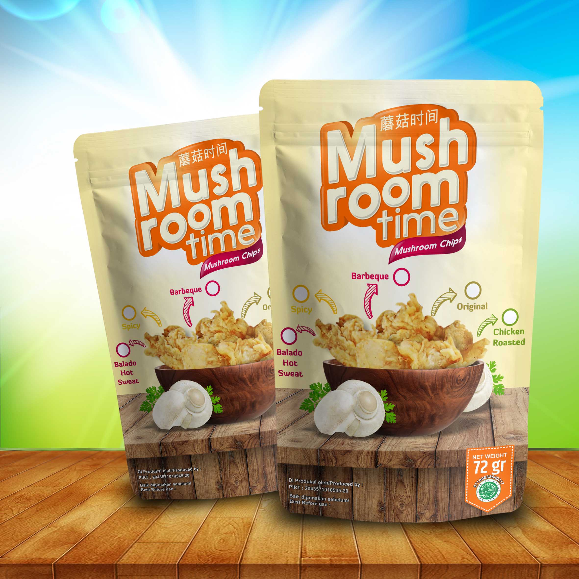 desain kemasan mushroom