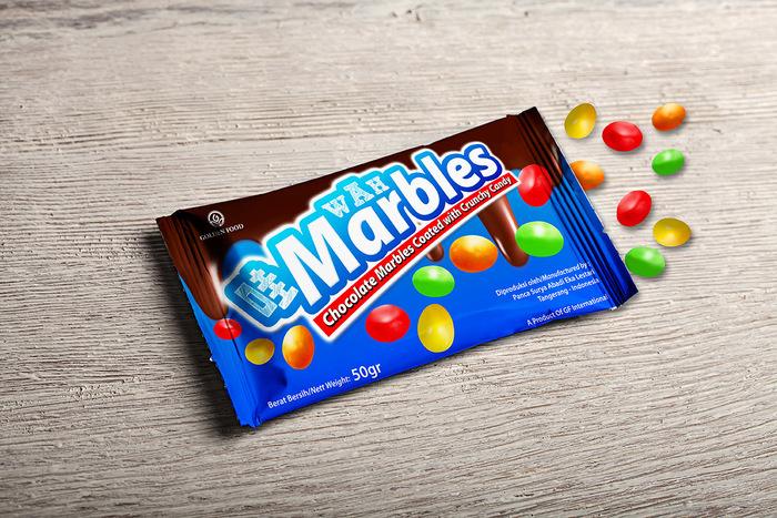 desain kemasan marbles