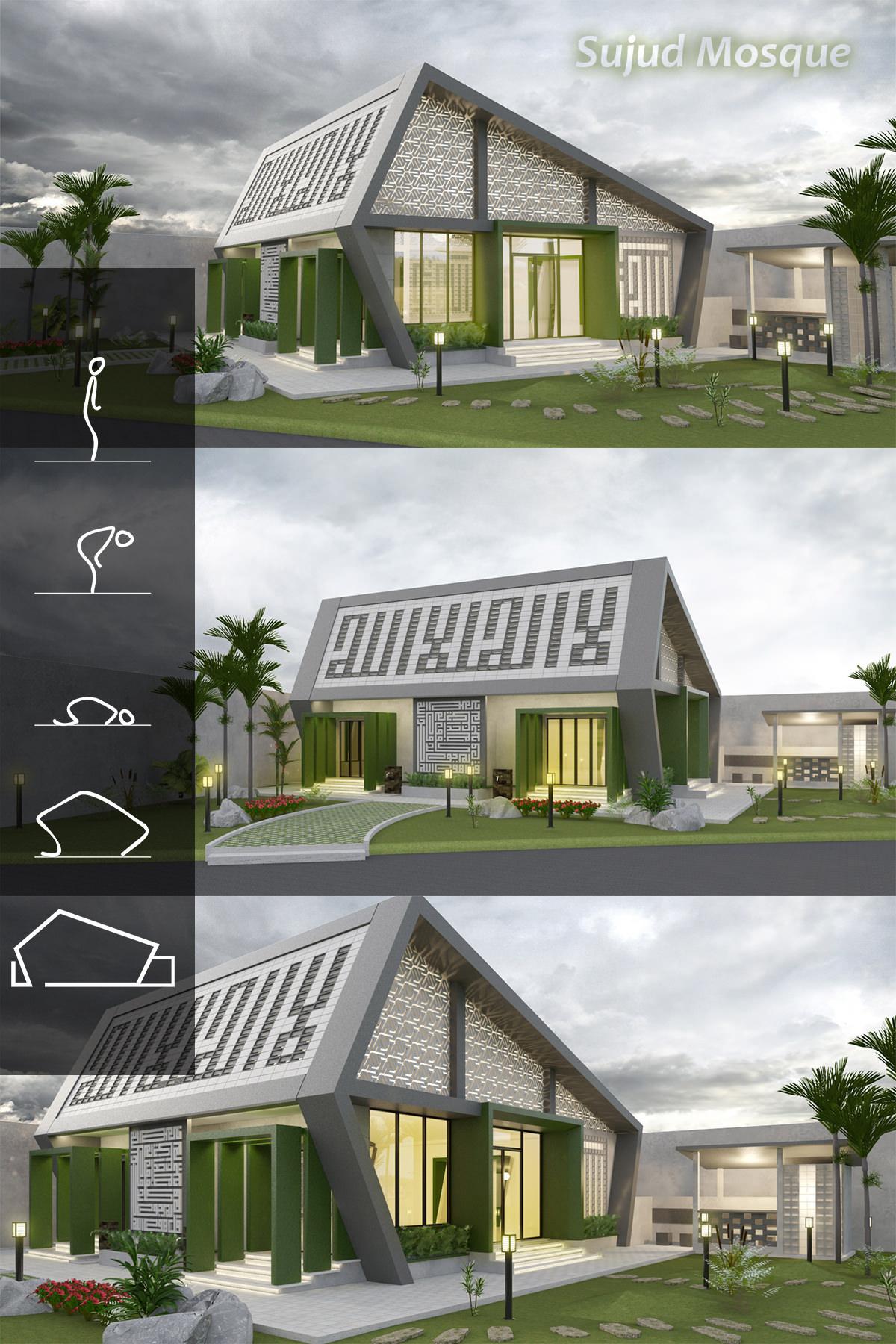 Desain Exterior Untuk Masjid SPBU
