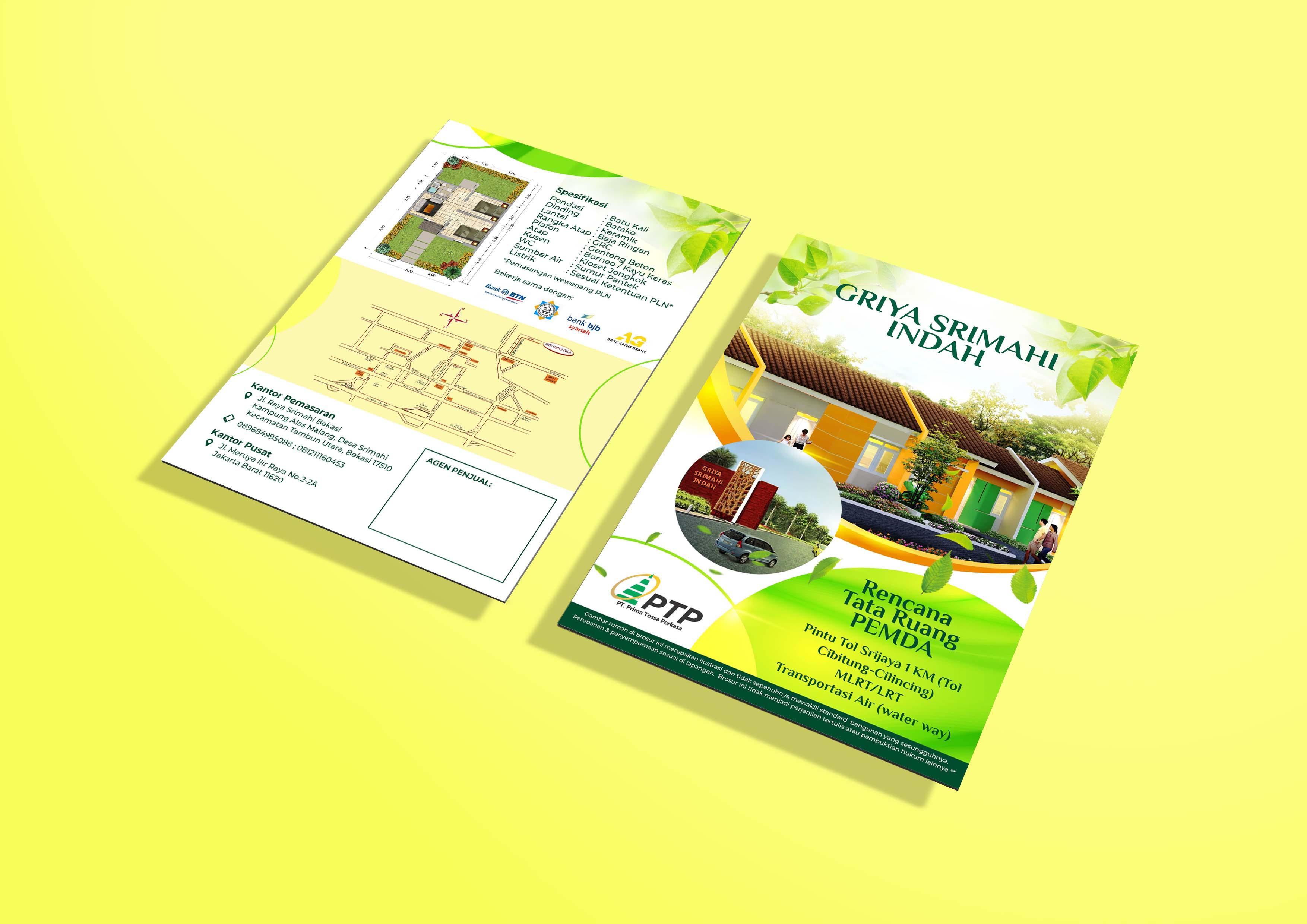 Desain Flyer Perumahan Subsidi Griya Srimahi Indah