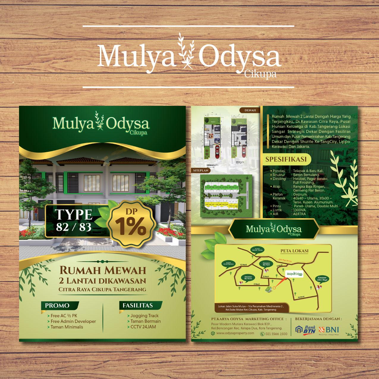 Jasa Desain Brosur Perumahan Mulya Odysa